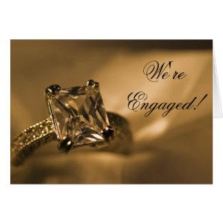 Princess Diamond Engagement Announcement Cards