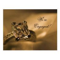 Princess Diamond Engagement Announcement Postcard