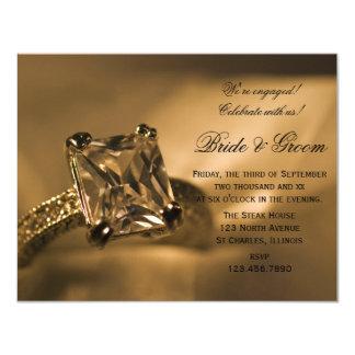 Princess Diamond Ring Engagement Party Invitation