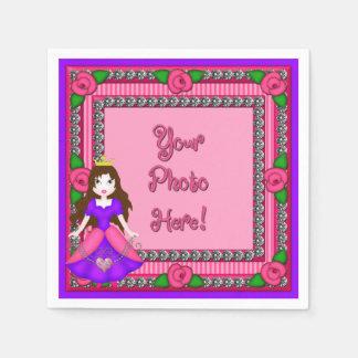 Princess Diamonds FR01-Pink-BR-PAPER NAPKINS