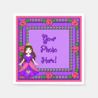 Princess Diamonds FR01-PURBR-PAPER NAPKINS