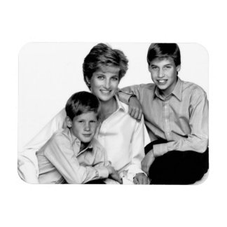 Princess Diana and sons Magnet