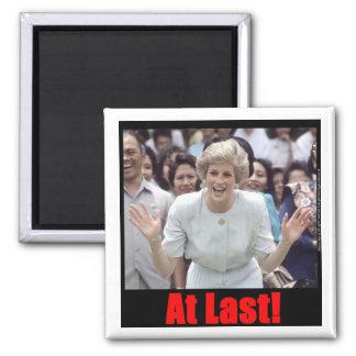 Princess Diana At Last! 2 Inch Square Magnet