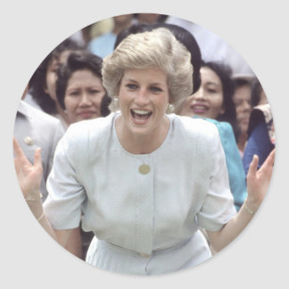 Princess Diana At Last! Classic Round Sticker