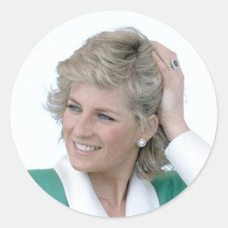 Princess Diana Australia 1988 Classic Round Sticker