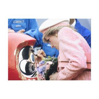 Princess Diana Austria 1991 Stretched Canvas Print