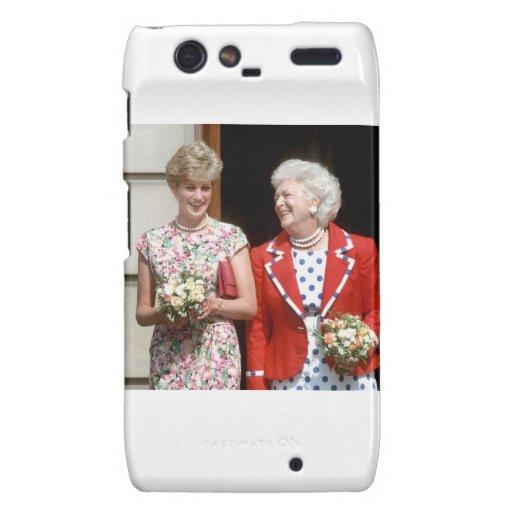 Princess Diana-Barbara Bush Droid RAZR Covers