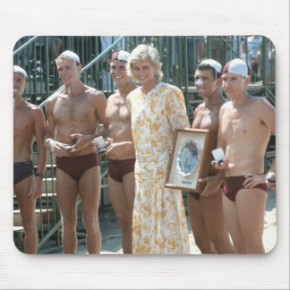 Princess Diana Bondi Beach Australia 1988 Mouse Mat