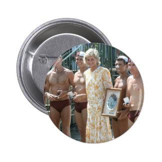 Princess Diana Bondi Beach Australia 1988 Pinback Button