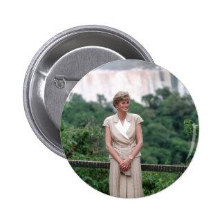 Princess Diana Brazil 1991 Pinback Button
