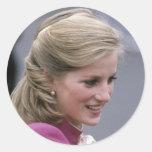 Princess Diana Ealing 1984 Round Sticker