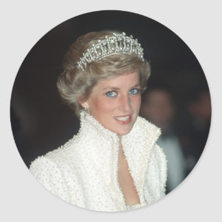 Princess Diana Hong Kong 1989 Classic Round Sticker