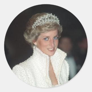 Princess Diana Hong Kong 1989 Round Stickers