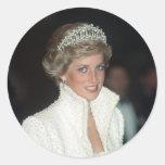 Princess Diana Hong Kong 1989 Classic Round Sticker