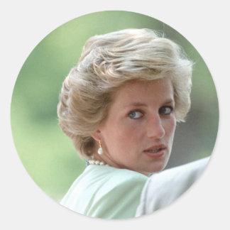 Princess Diana Hungary 1990 Classic Round Sticker