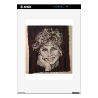 PRINCESS DIANA INK PEN PORTRAIT SKINS FOR THE iPad