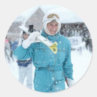 Princess Diana Lech 1992 Classic Round Sticker