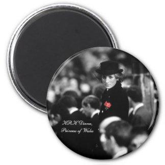 Princess Diana - Poppy 2 Inch Round Magnet