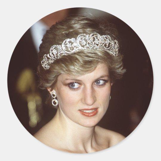 Princess Diana Portugal Classic Round Sticker