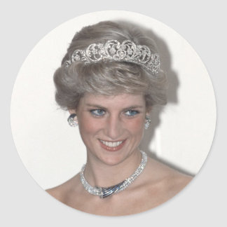 Princess Diana Sparkles in Germany Classic Round Sticker