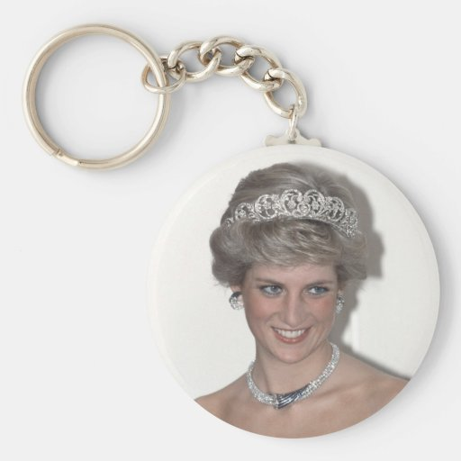 Princess Diana Sparkles in Germany Key Chains