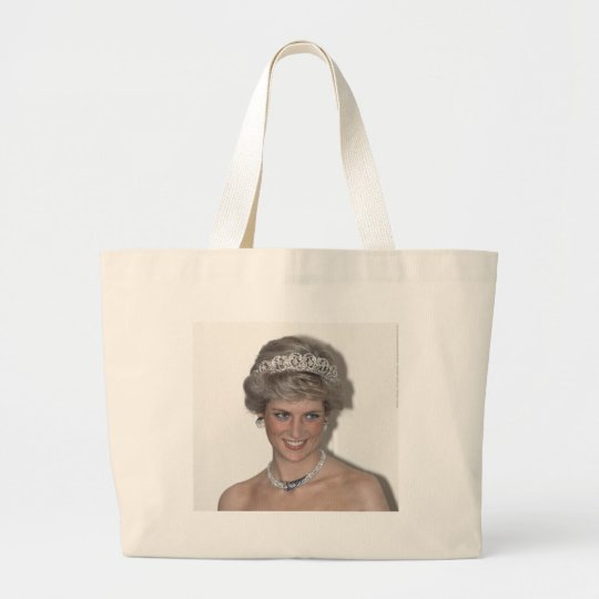Princess Diana Sparkles in Germany Large Tote Bag