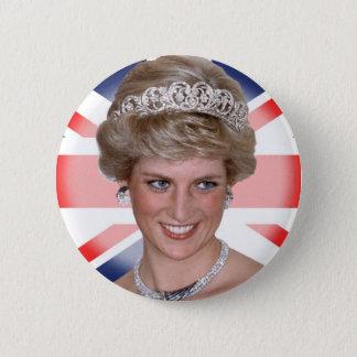 Princess Diana Union Jack Pinback Button