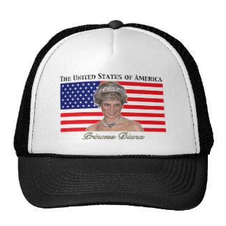 Princess Diana USA Flag Trucker Hat