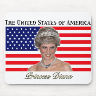 Princess Diana USA Flag Mouse Pads