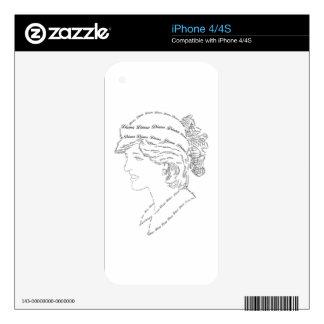 Princess Diana word art iPhone 4 Skins