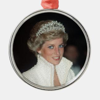 Princess Diana Xmas Metal Ornament