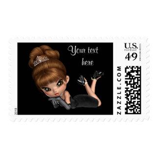 Princess Diva Postage Stamps