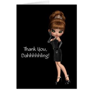 Princess Diva Thank You Card