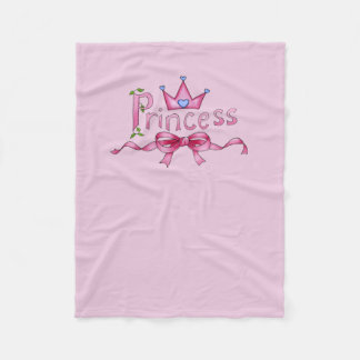 Princess Dog Fleece Blanket