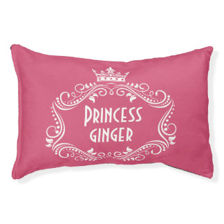 Princess Dog Name Personalized Pet Pillow Bed Dog Bed