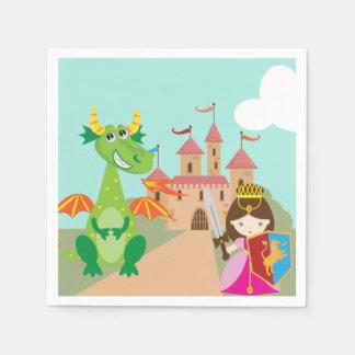 Princess Dragon and Knight Napkin