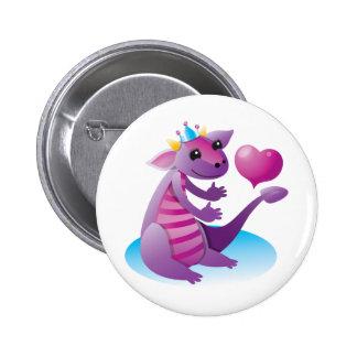 Princess Dragon 2 Inch Round Button
