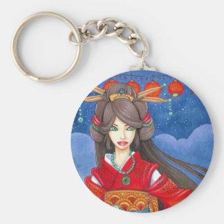 Princess Dragon Custom Geisha Keychain