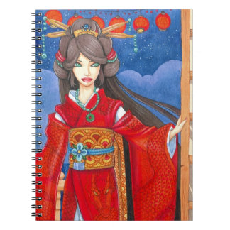 Princess Dragon Geisha Kimono Art, Custom Notebook