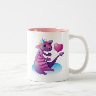 Princess Dragon Two-Tone Coffee Mug