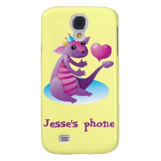 Princess Dragon with love heart Samsung Galaxy S4 Case