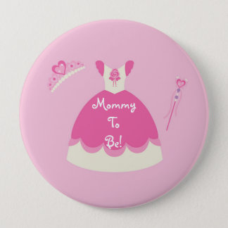 Princess Dress Personalized Mommy to Be Button