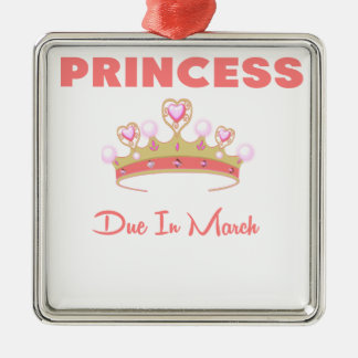 PRINCESS DUE IN MARCH.png Metal Ornament
