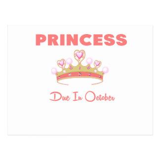 PRINCESS DUE IN OCTOBER.png Postcard