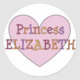 Princess Elizabeth Classic Round Sticker
