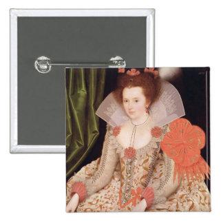 Princess Elizabeth, daughter of James I, 1612 2 Inch Square Button