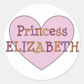 Princess Elizabeth Round Sticker