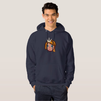 princess emoji mens hooded hoodie sweatshirt