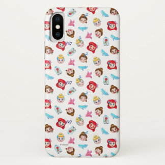 Princess Emoji Pattern iPhone X Case