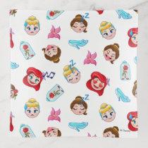 Princess Emoji Pattern Trinket Trays